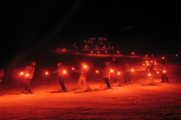 Steamboat Winter Carnival Candlelight Skiing
