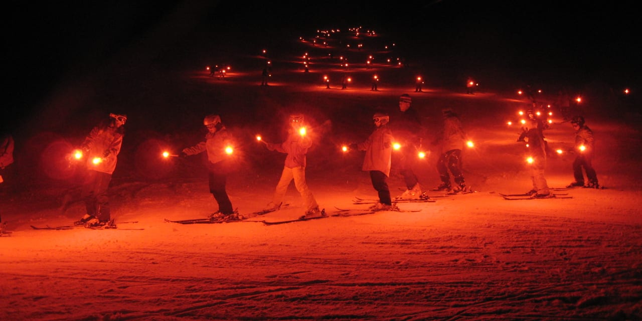 Steamboat Winter Carnival Lighted Ski