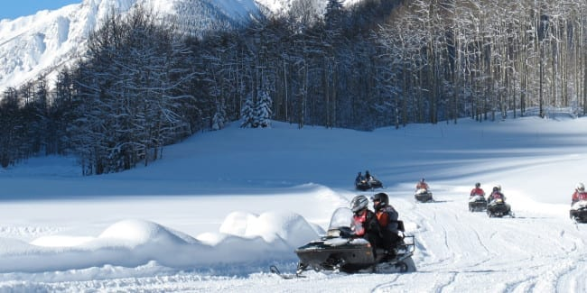 T Lazy 7 Ranch Snowmobiling Splendor In The Snow Aspen