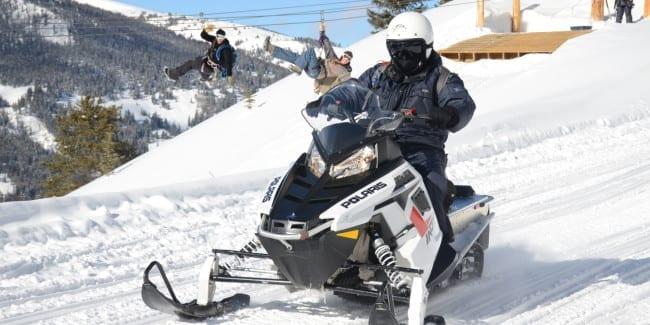 White Mountain Tours Zip Line Snowmobile