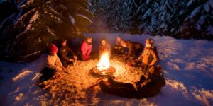 Winter Backcountry Campfire