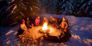 Winter Backcountry Campfire