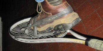 Homemade Snowshoes Tennis Rackets