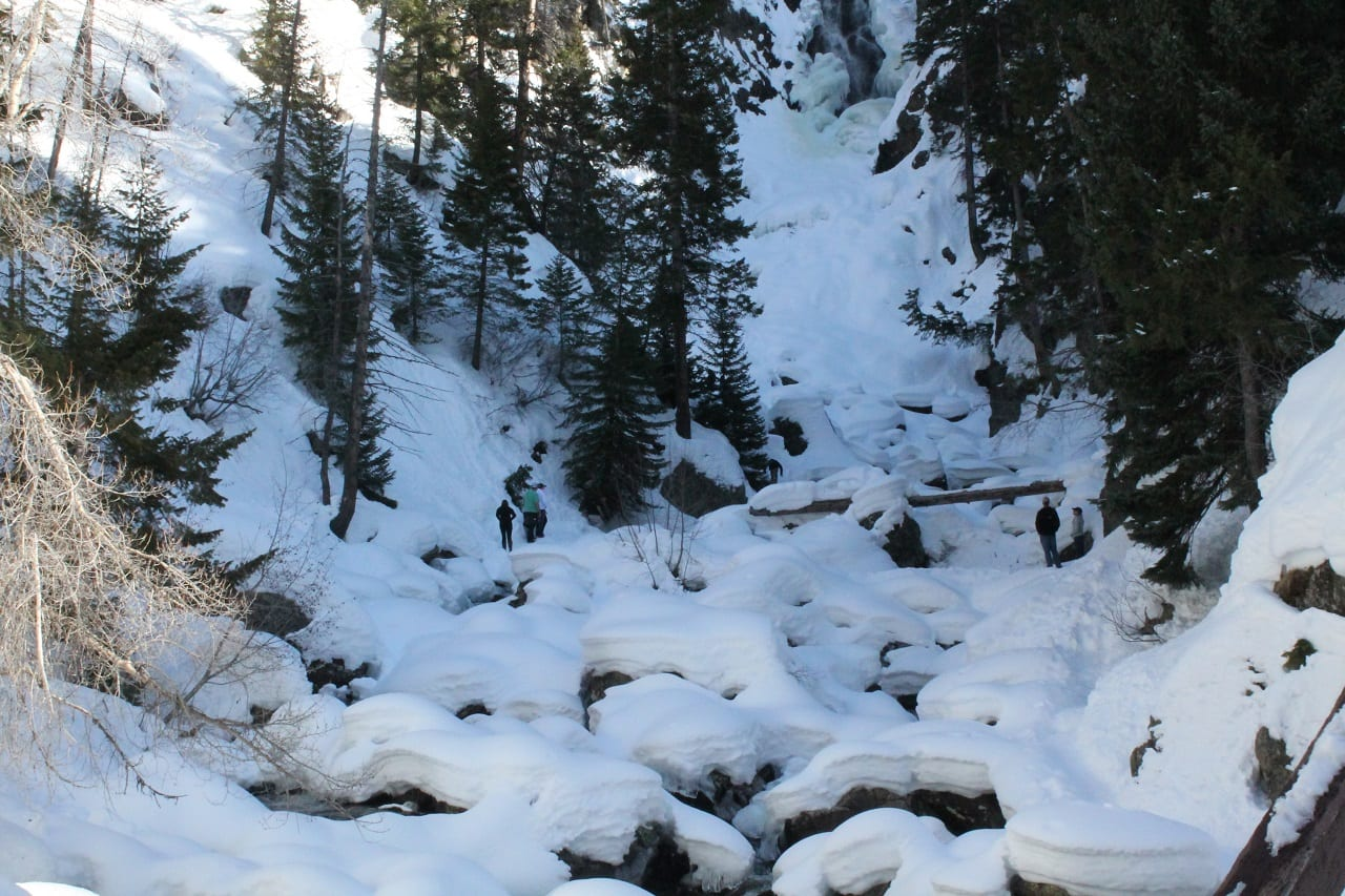 Fish Creek Falls Frozen Waterfall