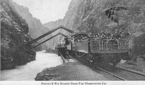 Denver Rio Grande Royal Gorge 1917 Open Observation Car
