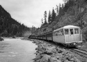 Durango Silverton Narrow Gauge Railroad Silver Vista Observation Car 1951