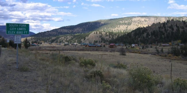 South Fork Colorado City Limits