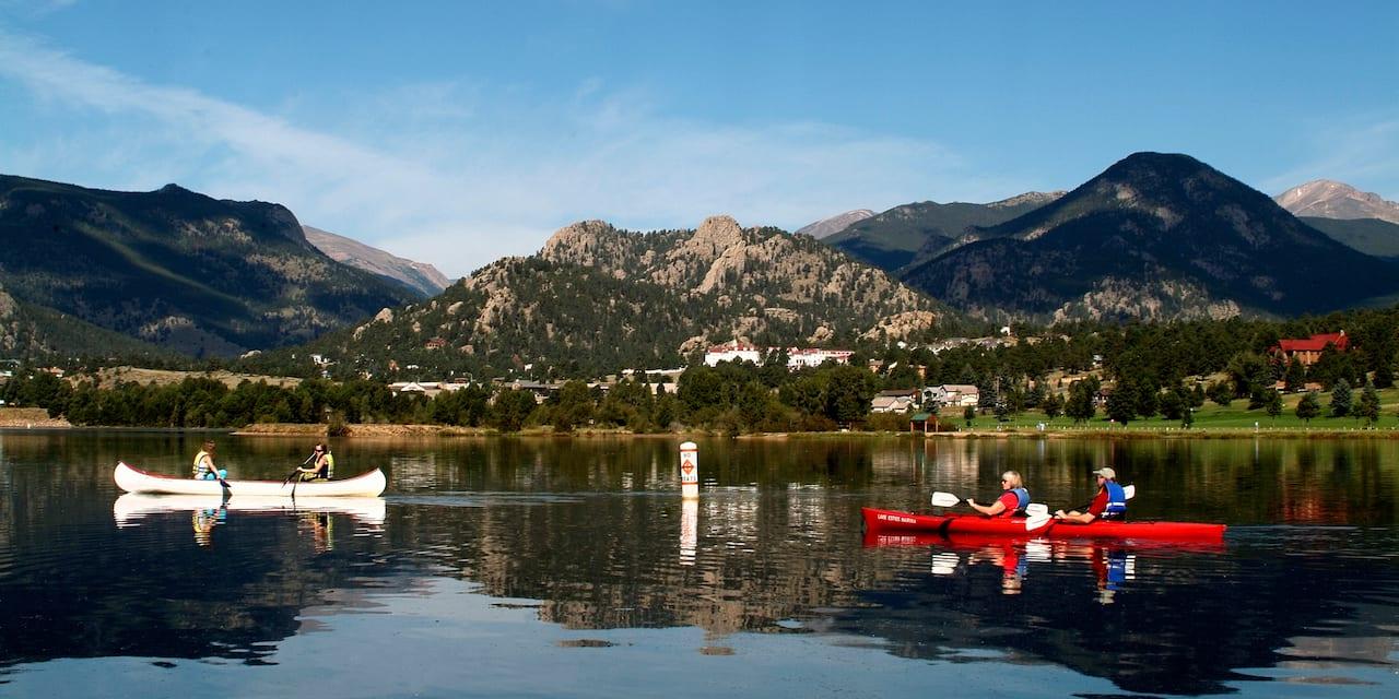 Lake Estes Colorado Canoeing