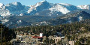 Estes Park Colorado Aerial