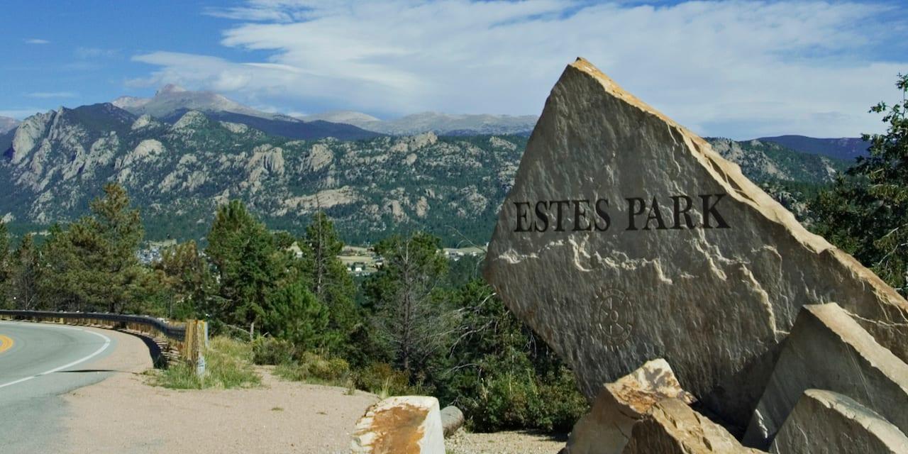 Estes Park Colorado Stone Sign
