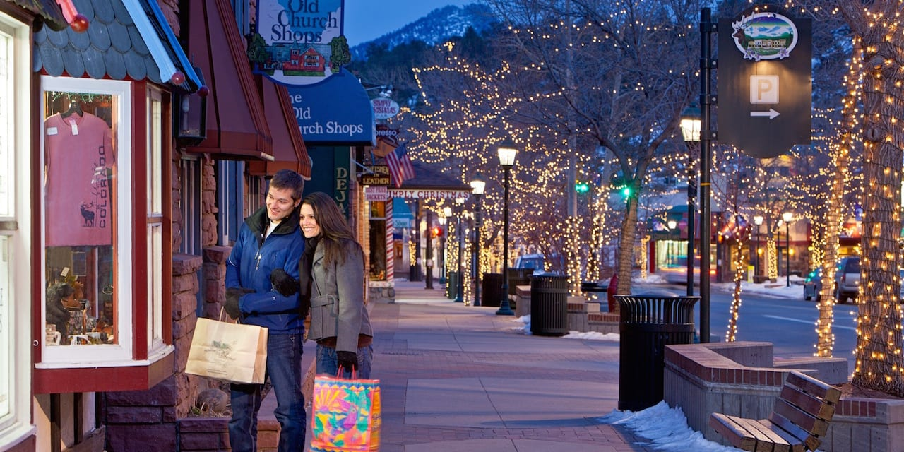 Downtown Estes Park Colorado Winter