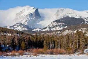 Estes Park Colorado Mountains Winter