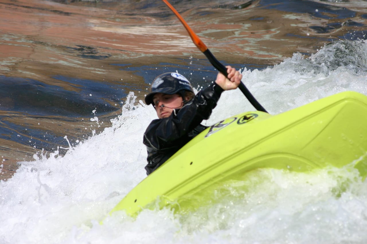 Pueblo Whitewater Park Arkanas River Kayaker