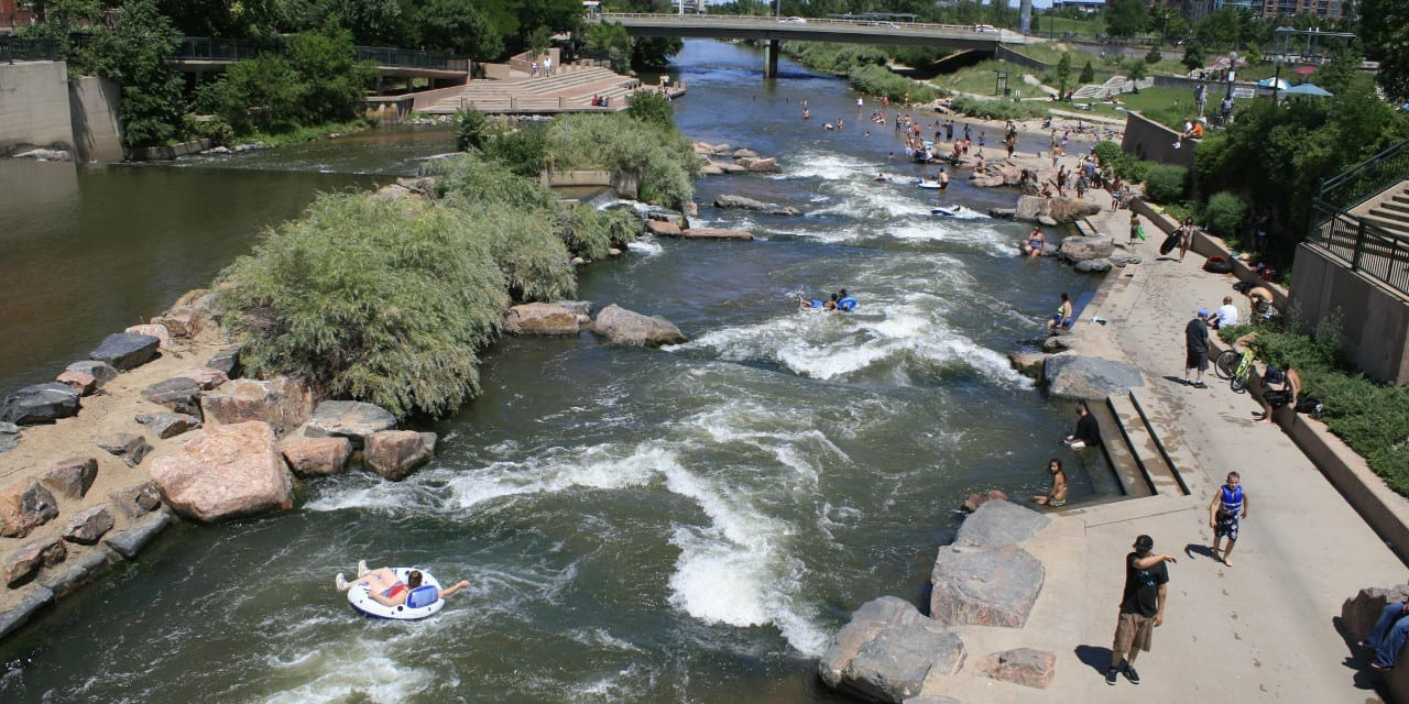 South Platte River Tubing Confluence Park Denver