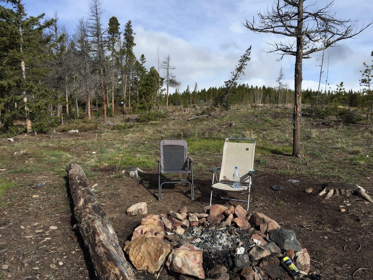 West Magnolia Nederland Colorado Campsite Firering