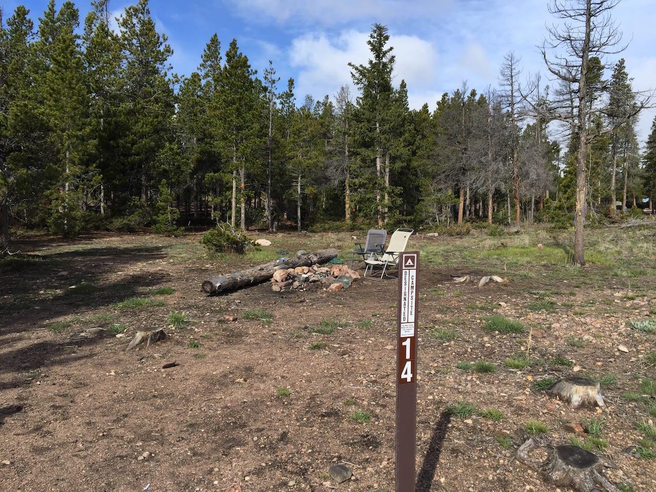 West Magnolia Campsite 14