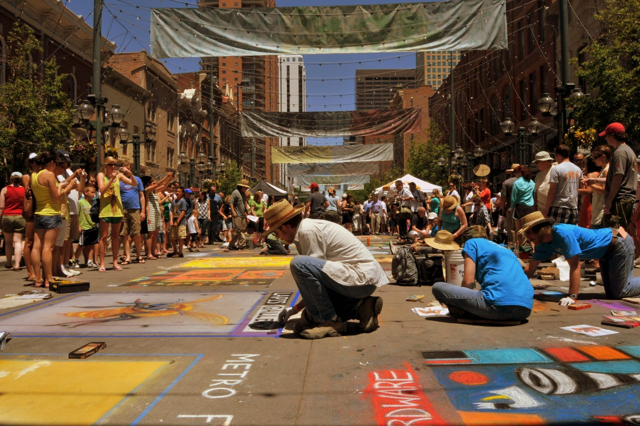 Denver Chalk Art Festival Larimer Square
