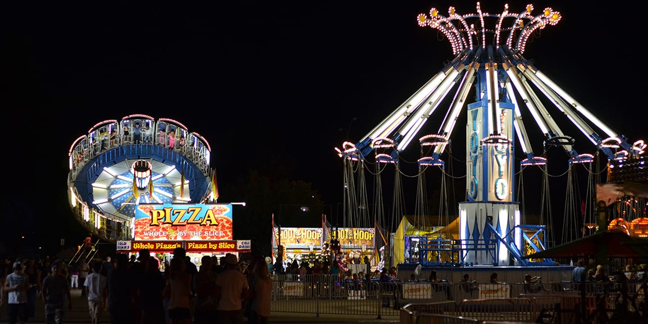 Greeley Stampede Carnival Colorado Night