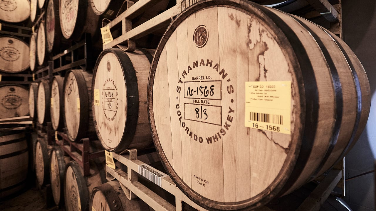 Stranahan's Distillery Tour Colorado Whiskey Barrels