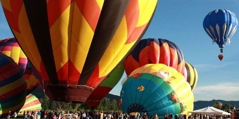 Hot Air Balloon Rodeo Steamboat Springs.