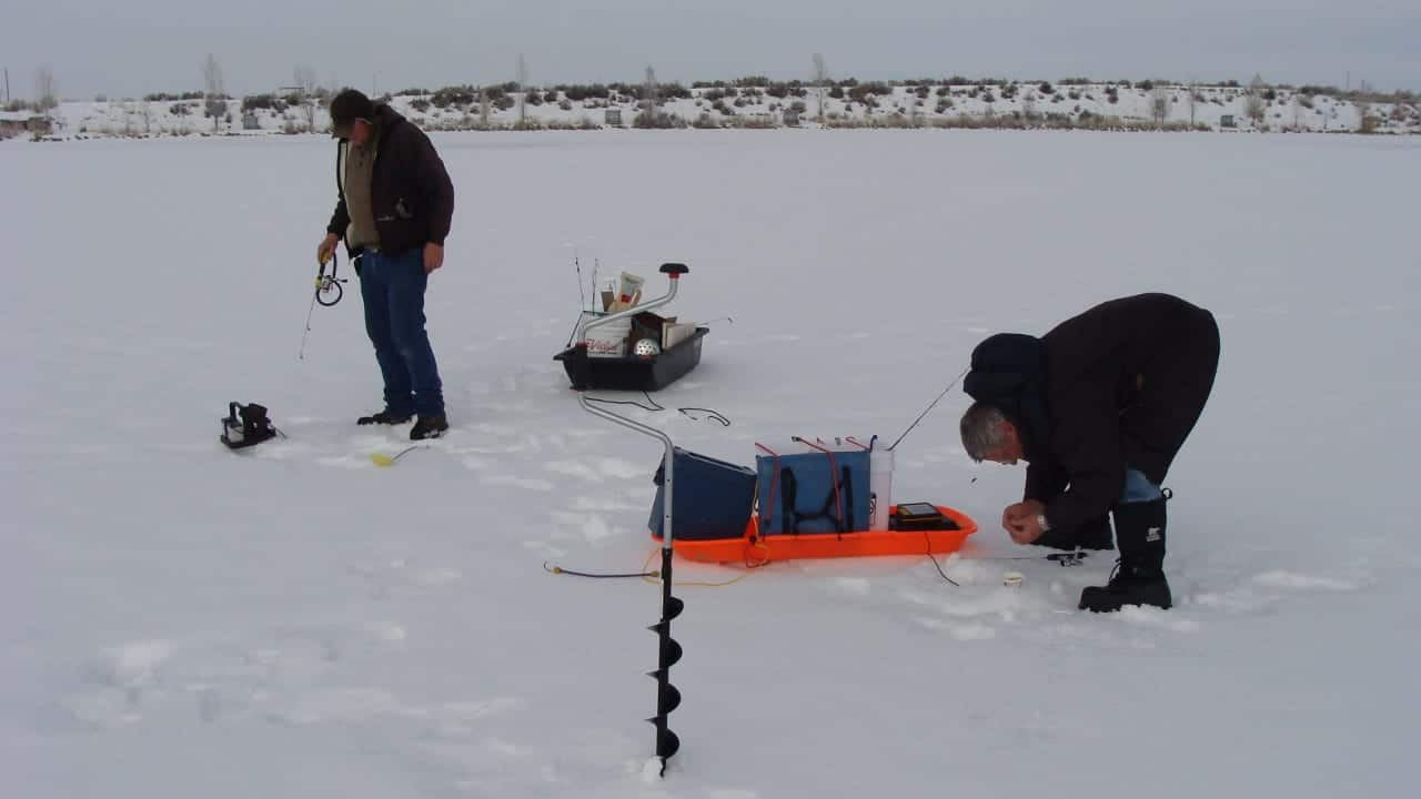 Ice Fishing Highline Lake Fruita Colorado