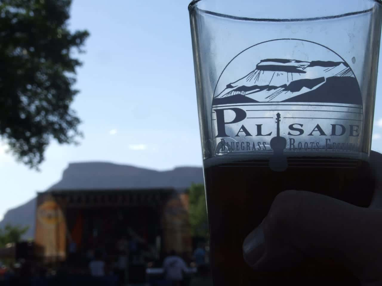 Palisade Bluegrass Roots Festival Pint Glass