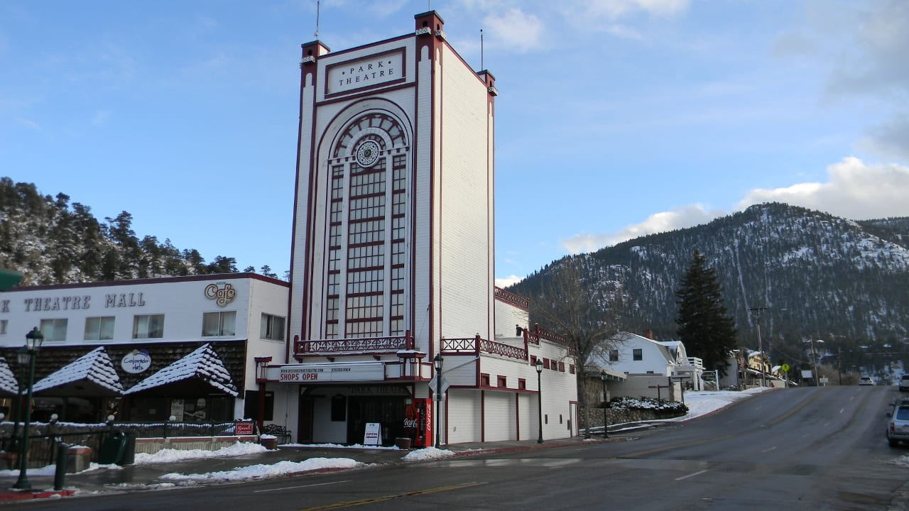 Park Theatre Estes Park Colorado Winter