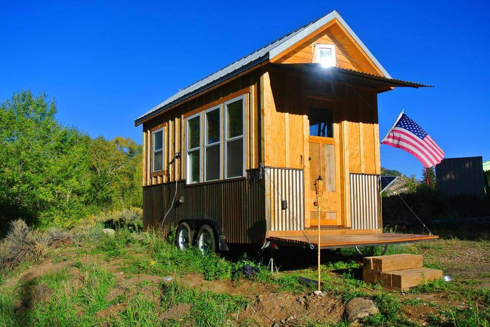 Tiny home large lifestyle colorado travel blog for Tiny mountain homes