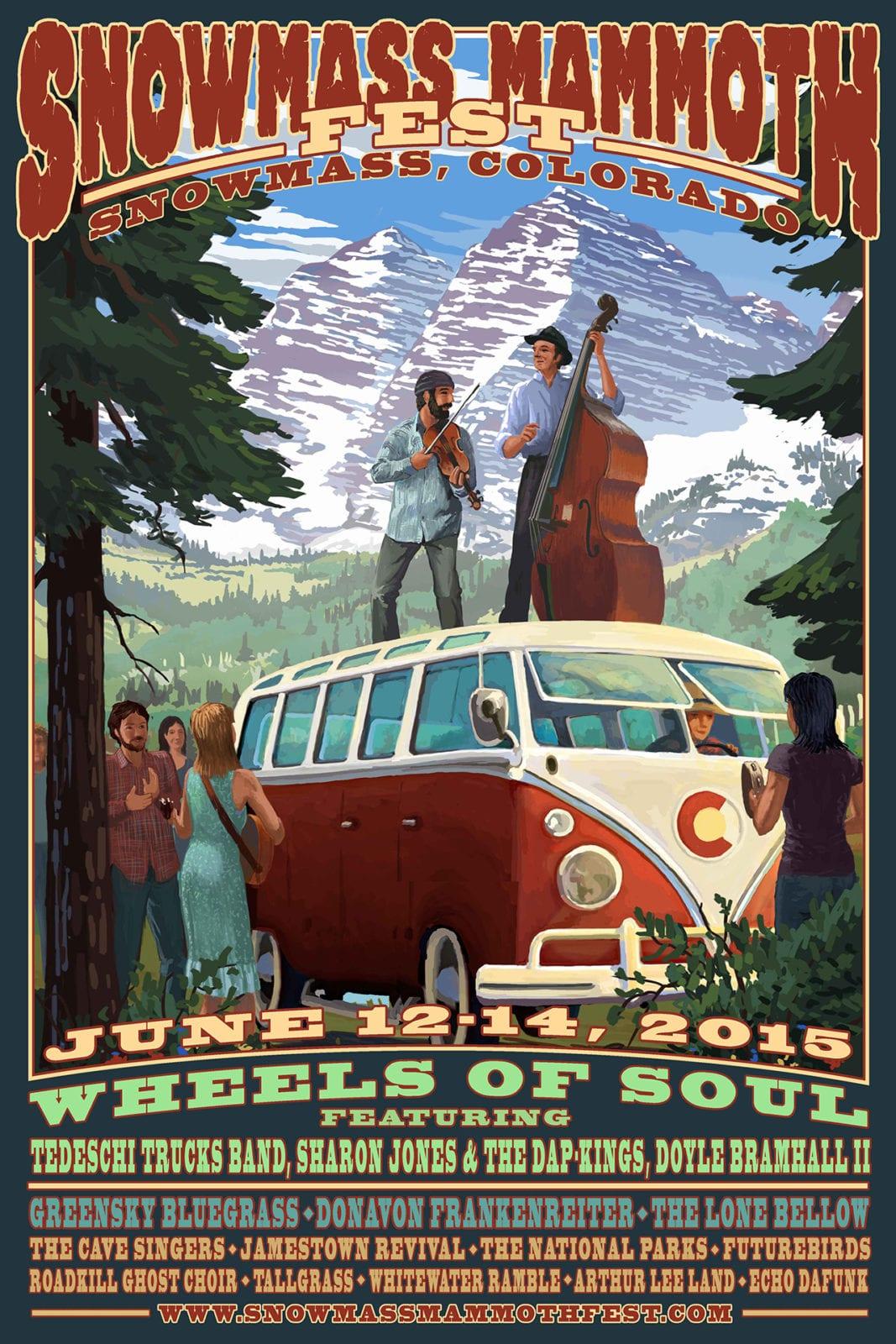 Snowmass Mammoth Fest 2015 Poster