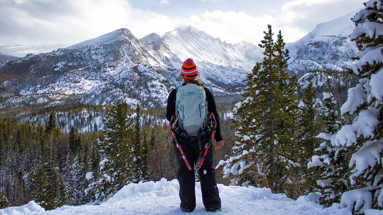 Snowshoeing Rocky Mountain National Park