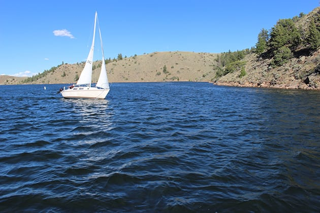 Boating Blue Mesa Reservoir Colorado