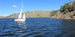 Boating on Curecanti's Blue Mesa Reservoir