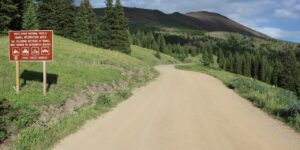 Driving over Boreas Pass to Breckenridge
