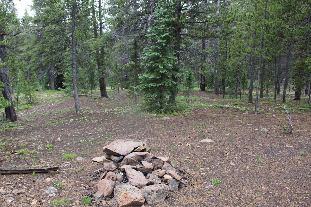 Boreas Pass Primitive Campsite Firering