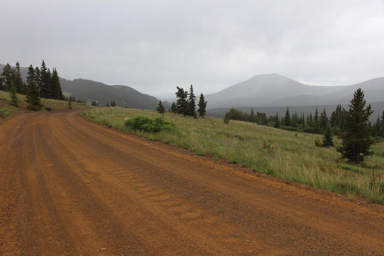 Boreas Pass Red Road Clouds Colorado