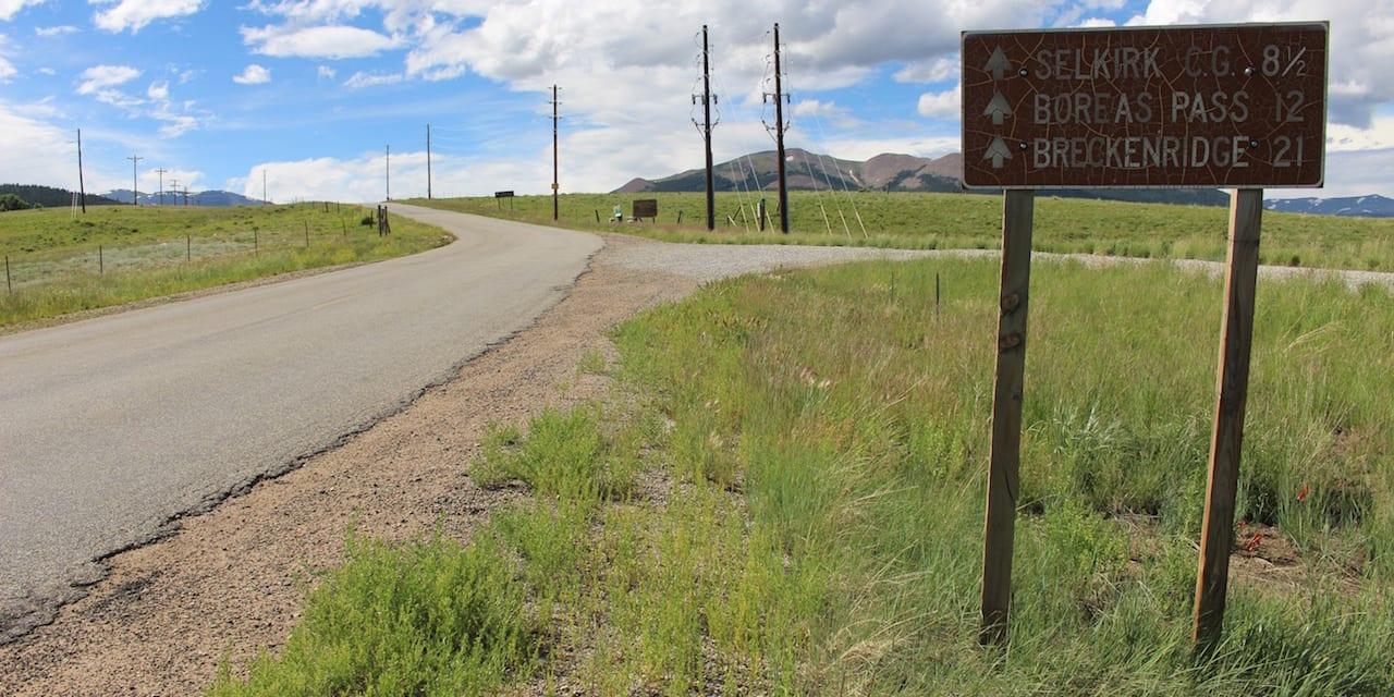 Boreas Pass Mileage Sign