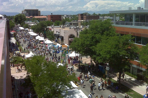 Cherry Creek Arts Festival Aerial View