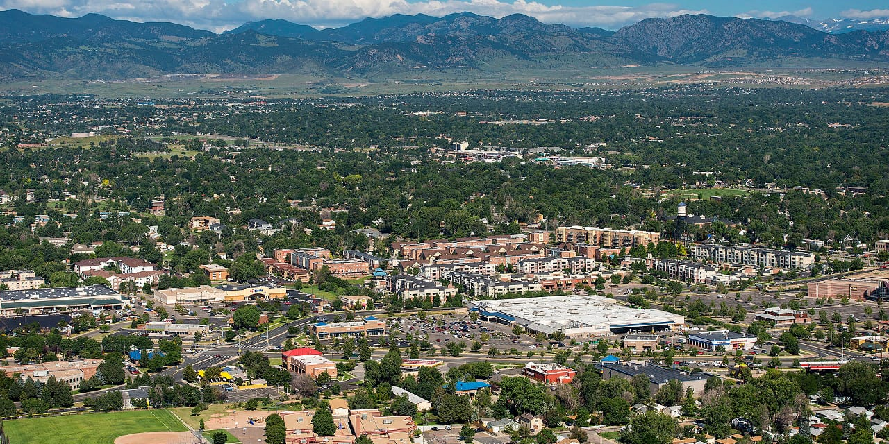 Arvada Colorado Aerial View