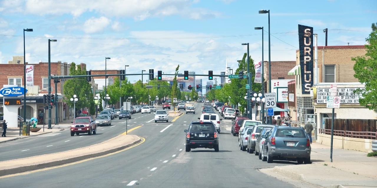 Broadway Street Downtown Englewood Colorado