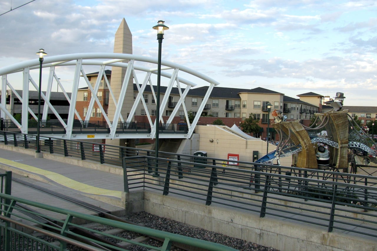City Center Train Lightrail Englewood Colorado