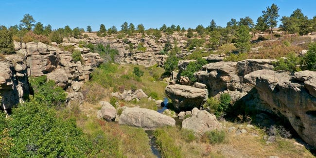 Franktown Colorado Castlewood Canyon
