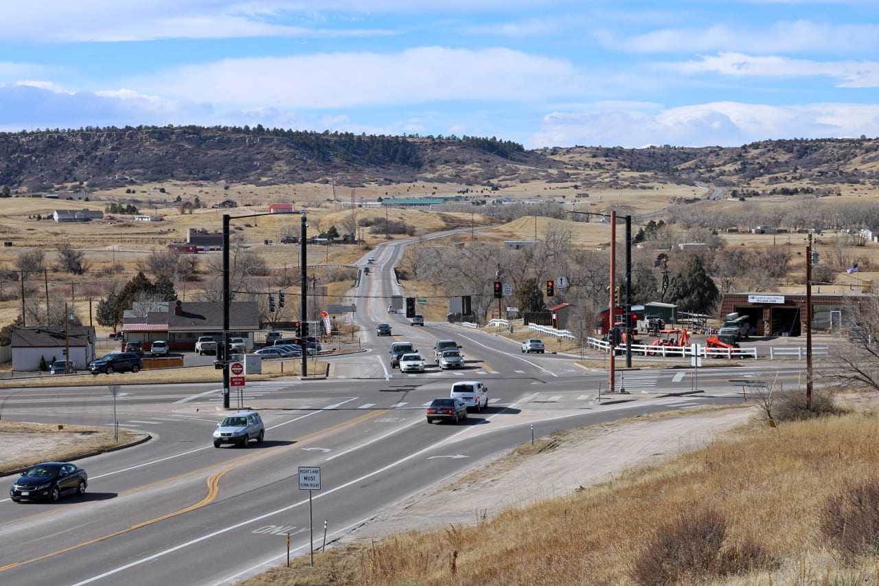 Highway Intersection Franktown Colorado
