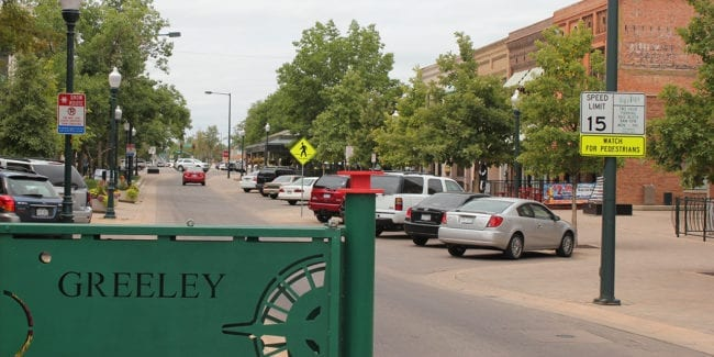 Greeley Colorado Downtown Sign