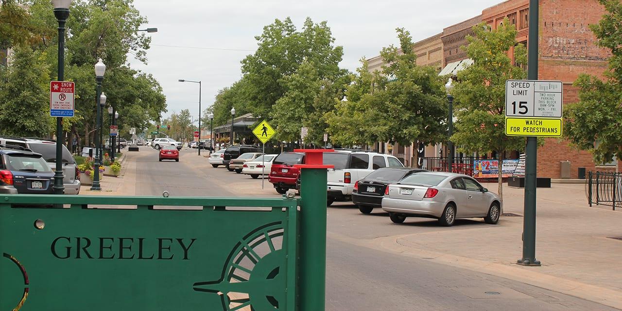 Greeley Colorado Downtown Sign