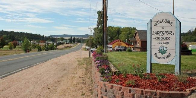 Larkspur Colorado Welcome Sign