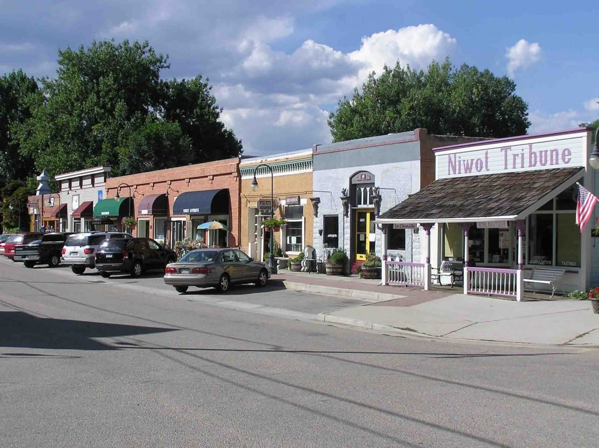 Niwot Colorado Downtown