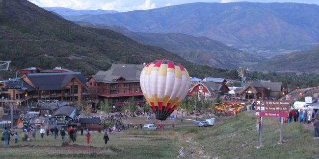 Snowmass Village Colorado Hot Air Balloon