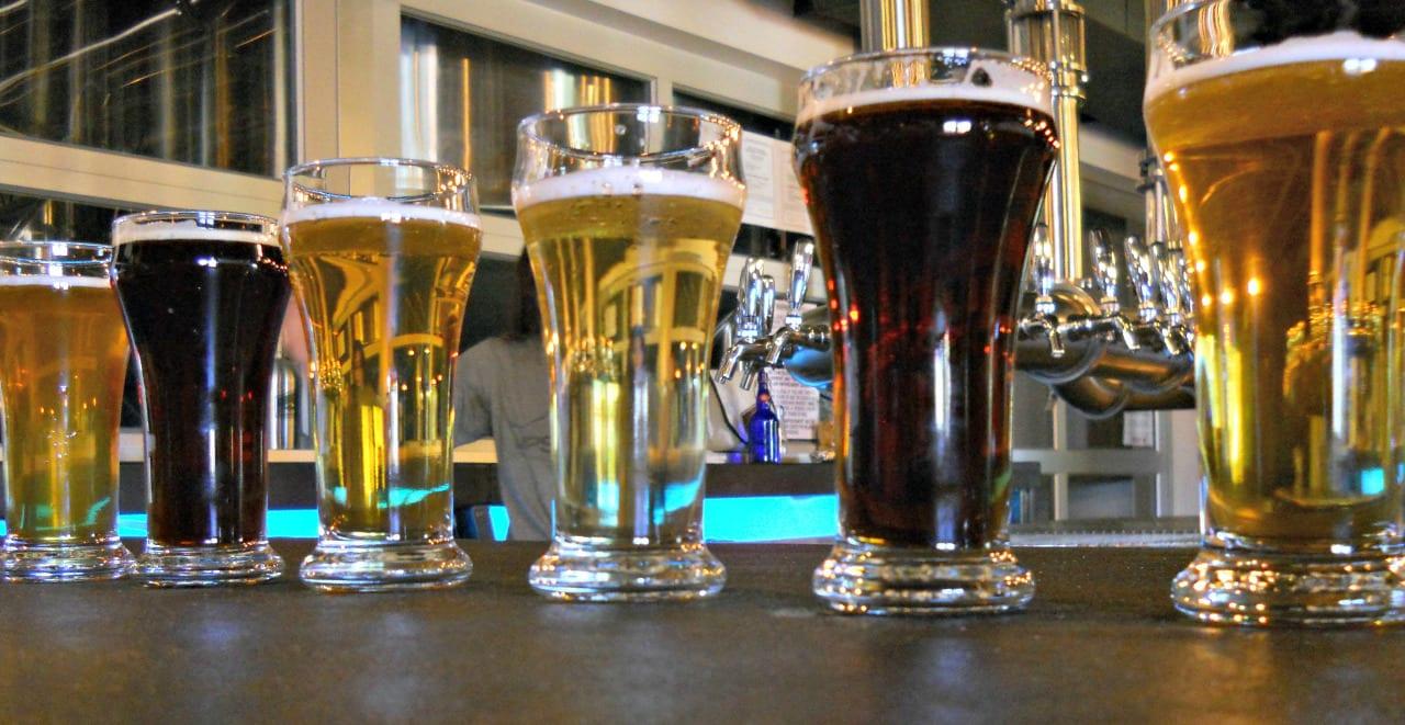 Upslope Brewery Beer Tasters Boulder Colorado
