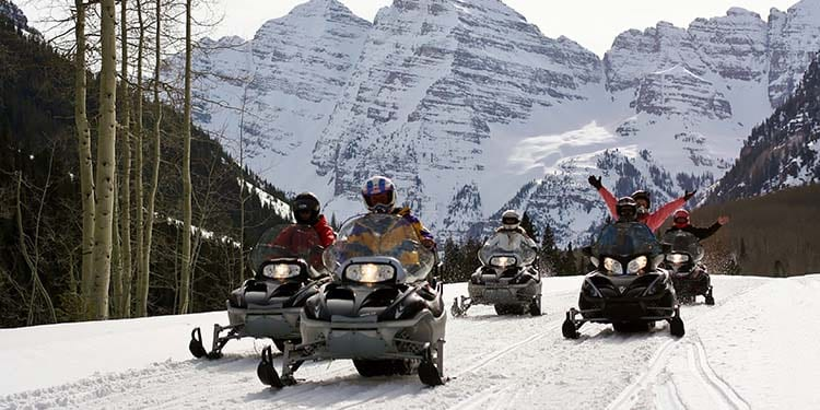 T-Lazy-7 Ranch Snowmobiling Aspen