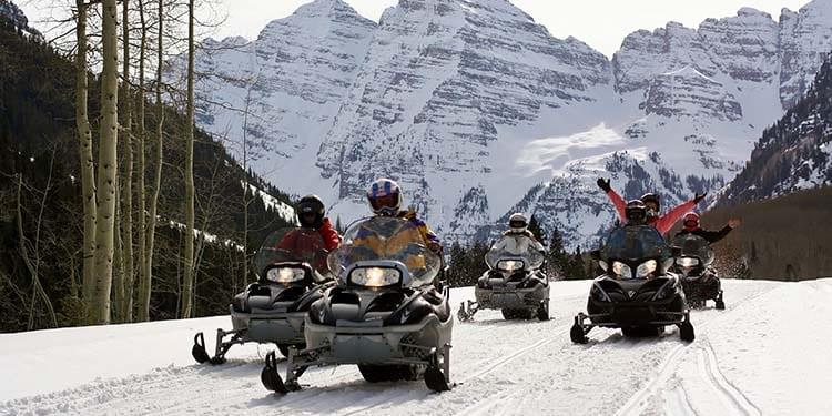T-Lazy-7 Ranch Snowmobiling Aspen
